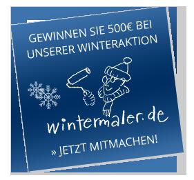 Gewinnen Sie 500€ bei unserer Winteraktion – wintermaler.de – Jetzt mitmachen!